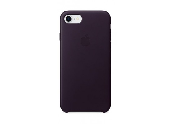 new styles 8fe2a de1ad Apple Leather Case For iPhone 8 (MQHD2ZM/A) - Dark Aubergine Leather