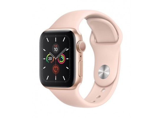 Apple Watch Series 5 GPS 40mm Gold Aluminium Case with Pink Sport Band 2
