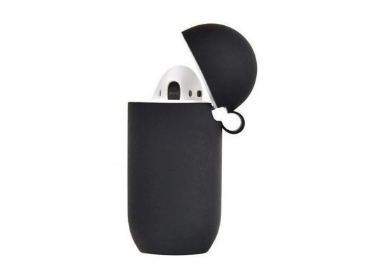 Tingz My Silicone Case For Airpods With Sport Strap - Black 1