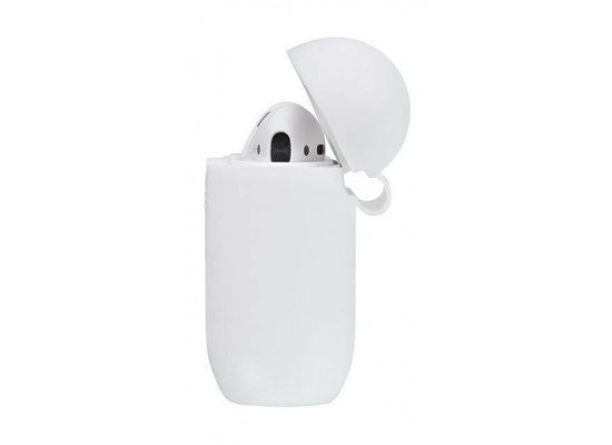 Tingz My Silicone Case For Airpods With Sport Strap - White 1