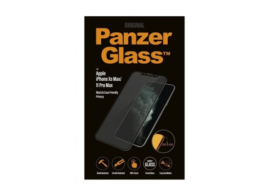 Panzer Glass iPhone 11 Pro Max Case Friendly Privacy Screen Protector (P2666) - Black
