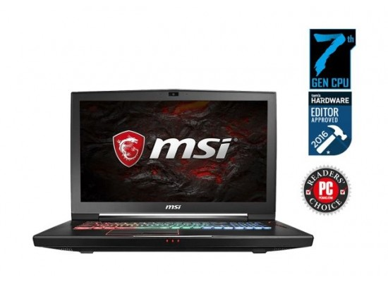 MSI VR Ready Titan Pro Core i7 32GB RAM 1TB HDD 256GB SSD 17 3-inch Gaming  Laptop (GT73VR 6RF) - Black