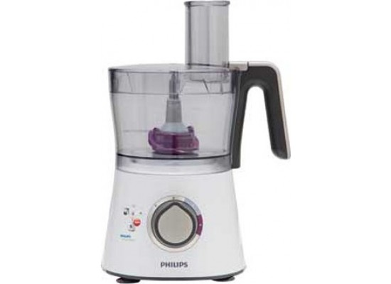 Philips Viva Collection Food Processor 750 Watt with compact 3-in1 setup HR7761/01 - White