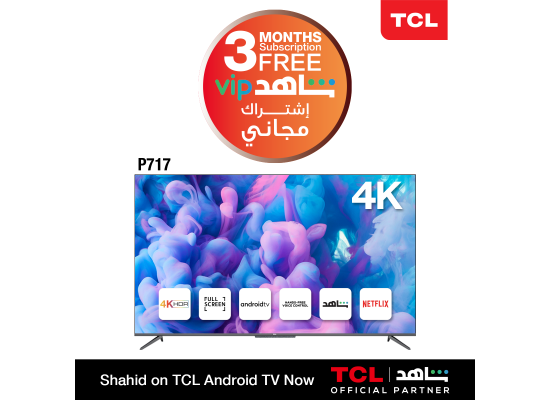 TCL 65-Inch 4K UHD Android LED TV (65P717)