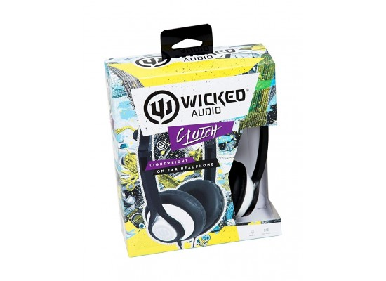 Wicked Audio Clutch On Ear Wired Dynamic Crystal Clear Stereo Sound Headphones - White