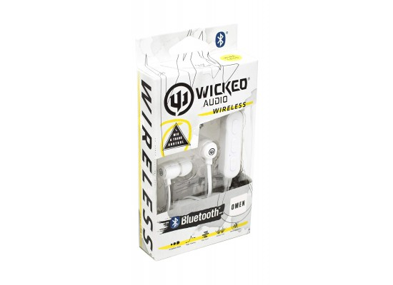 Wicked Audio Omen Wireless Bluetooth Noise Isolation Dynamic Crystal Clear Stereo Sound Earbuds - White
