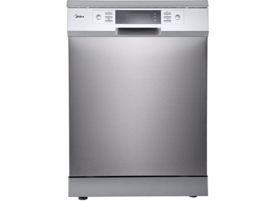 Midea 8 Programs 15 Settings Freestanding Dishwasher (WQP15J7631AS) - Silver