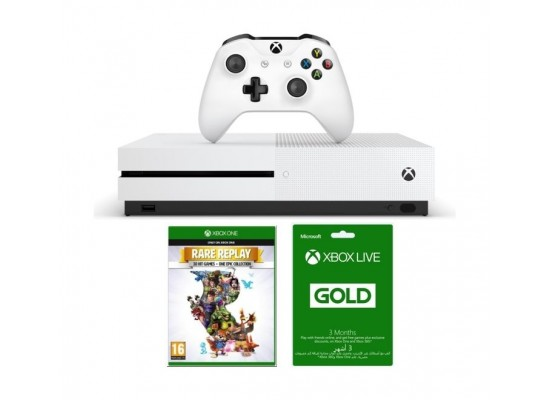 Xbox One S 1TB Console + Rare Replay + 3 Months Card