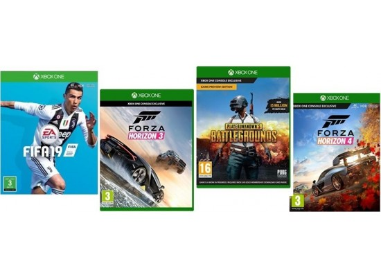 Microsoft Forza Horizon 3 + Playerunknown's Battlegrounds (CODE) + FIFA 19 + Forza Horizon 4