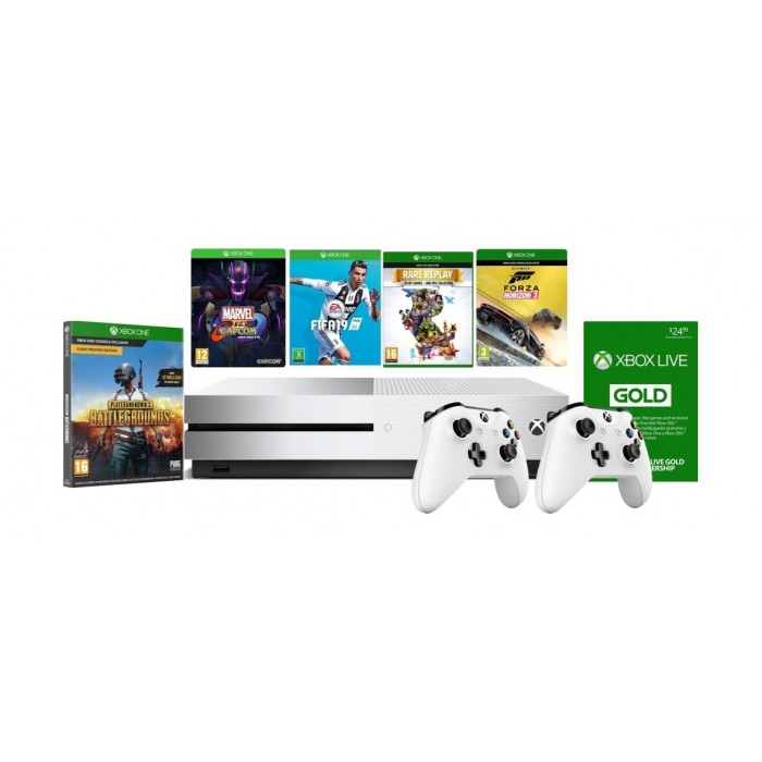 Xbox One S 1TB Console With 2 Controller + 4 Xbox One Games