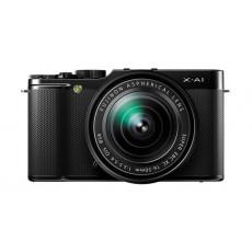 الكاميرا الرقمية أكس-اي١ ميرورليس ١٦.٣ ميجابيكسل مع عدسة أكس سي ١٦-٥٠ ملم من فوجي فيلم - أسود