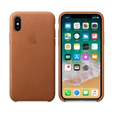 Apple Leather Case For iPhone 10 (MQTA2ZM/A) – Saddle Brown