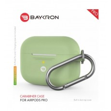 Baykron Airpods Pro Silicone Case with Carabiner - Avocado Green