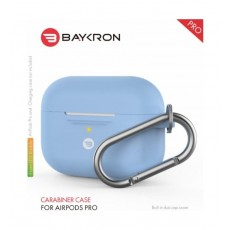Baykron Airpods Pro Silicone Case with Carabiner - Sky Blue