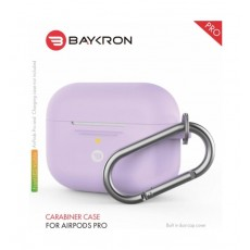 Baykron Airpods Pro Silicone Case with Carabiner - Purple