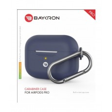 Baykron Airpods Pro Silicone Case with Carabiner - Midnight Blue