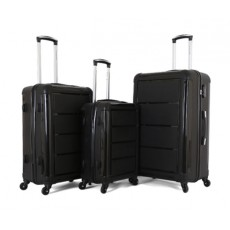 Giordano Luggage Trolley Bags, 3 Pcs, Black