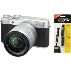 كاميرا فوجي فيلم X-A10 بدون مرآة بجودة ١٦,٣ ميجابيكسل مع عدسة بفتحة ٥٠ ملم - XC16 + منظف العدسات فوجي لينسبن