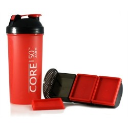 زجاجة إعداد مسحوق البروتين كور١٥٠ - أحمر