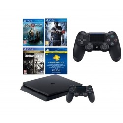 PlayStation 4 500GB + 3 Games + PSN 90 Days + PS4 DS4 Controller + Fortnite Voucher
