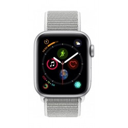 Apple Watch Series 4 40mm, Silver Aluminium Case, Seashell Sport Loop