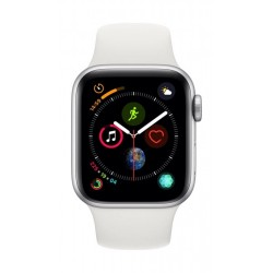 Apple Watch Series 4 40mm, Silver Aluminium Case, White Sport Band