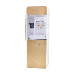 Wansa 2 Tap Floor Standing Water Dispenser - Silver front view