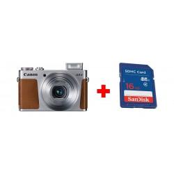 كاميرا كانون باورشوت جي ٩ إكس مارك ٢ الرقمية المدمجة بدقة ٢٠ ميجابكسل واي- فاي +  بطاقة الذاكرة سانديسك إس دي من نوع إس إتش دي سي - ١٦ جيجابايت