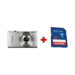 كاميرا كانون إكسيس ١٨٥ الرقمية بدقة ٢٠ ميجابكسل - شاشة إل سي دي ٢,٧ بوصة - فضي + بطاقة الذاكرة سانديسك إس دي من نوع إس إتش دي سي - ١٦ جيجابايت