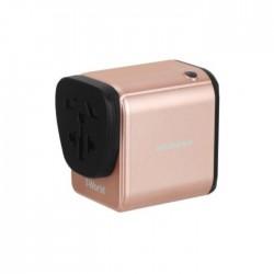 Momax 1-World travel AC adaptor Type-C (PD) - Rose Gold