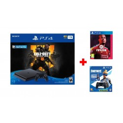 Sony PlayStation 4 Slim 1TB + Call of Duty: Black Ops 4 + FIFA 20 Champions Edition + PS4 DS4 Controller + Fortnite Voucher