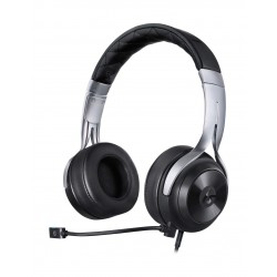 سماعة الألعاب السلكية العالمية إل إس ٢٠ مع ميكروفون من لوسيد ساوند - أسود