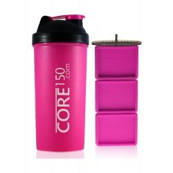 زجاجة إعداد مسحوق البروتين كور١٥٠ - وردي