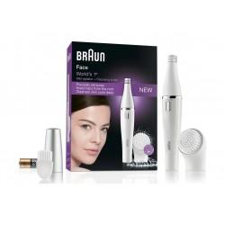 ماكينة إزالة شعر الوجه فيس سبا يونج بيوتي للتنظيف رطب/جاف من براون – أبيض (FACE 830)