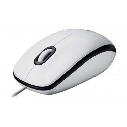 Logitech M100 USB Wired Mouse - Clamshell
