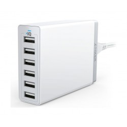 Anker PowerPort 6 60W 6-Port USB Desktop Charger (A2123K22)