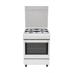 Ariston 60X60 CM 4 Burners Stainless Steel Gas Cooker (A6GG1F(W)EX) - White
