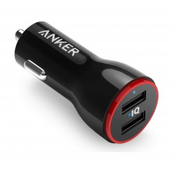 Anker 24W Dual USB Car Charger (A2212H11) - Black