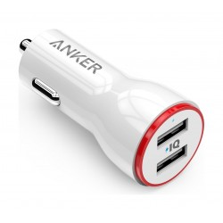 Anker 24W Dual USB Car Charger (A2212H21) - White