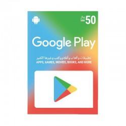 بطاقة جوجل بلاي الرقمية  - ٥٠ ريال سعودي (حساب سعودي)