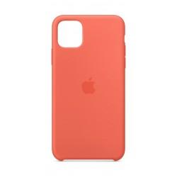 Apple iPhone 11 Pro Max Silicon Case - Clementine Orange
