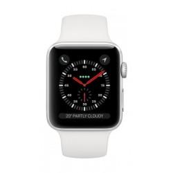 Apple Watch Series 3 Silver Aluminium Case Sport Band - White
