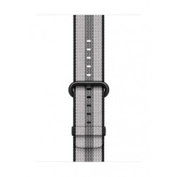 Apple Woven Nylon Strap For 38mm Watch Case - Black Stripe