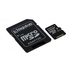 Kingston Canvas Select 80R 256GB microSDHC Memory Card + SD Adapter