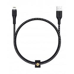 Aukey CB-AL2 2Meter Braided Nylon MFI Apple Lightning  Cable - Black