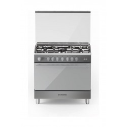 Ariston 90CM 5 Burner Gas Cooker (BAM951EGSS) - Stainless Steel