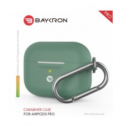 Baykron Airpods Pro Silicone Case with Carabiner - Midnight Green