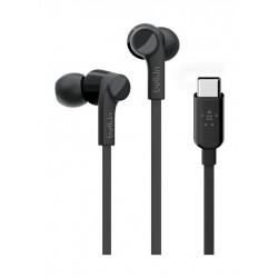 Belkin Rockstar Headphones with USB-C Connector - Black