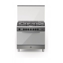 Indesit 90CM 5 Burner Gas Cooker (BIM951EGSS) - Stainless Steel