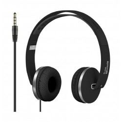 Promate Swing Dynamic On-Ear Stereo Headset with Hi-Fi Sound - Black